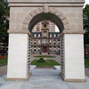Halifax City hall through the memorial arch